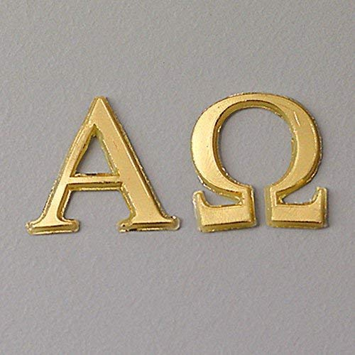 "efco ""Alpha + Omega Wachs Dekoration in 2Teile, Gold Brilliant, 22mm"