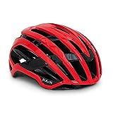 Kask Valegro Casque vélo de Route Mixte Adulte, Rouge, L-49/62cm