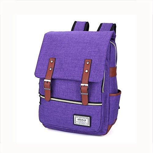 Imagen de rucksack  oxford tela impermeable 18 pulgadas portátil  para hombres y mujeres , purple alternativa