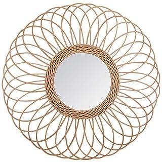 ATMOSPHERA - Miroir rotin rosace D58 - Beige