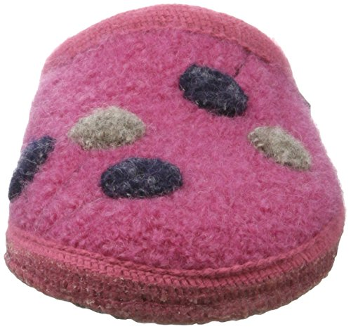 Haflinger Walktoffel Solvejk, Chaussons Mules femme Pink (Azalee)