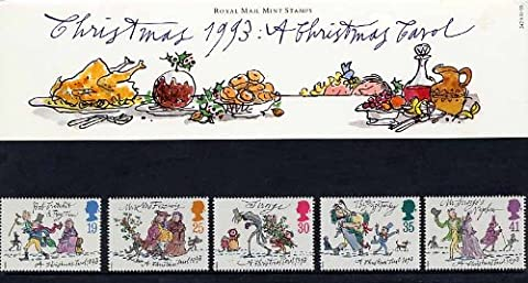 1993Weihnachten: A Christmas Carol Präsentation Pack Nr. 242–Royal Mail Briefmarken