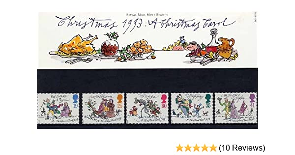 Christmas Stamps.1993 Christmas A Christmas Carol Presentation Pack No 242 Royal Mail Stamps