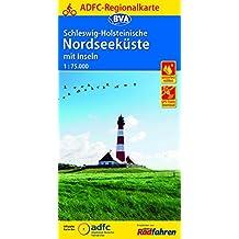 ADFC-Regionalkarte Schleswig-Holsteinische Nordseeküste mit Inseln mit Tagestouren-Vorschlägen, 1:75.000, reiß- und wetterfest, GPS-Tracks Download (ADFC-Regionalkarte 1:75000)