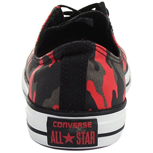 Converse CT Ox Black Red Womens Trainers - 146813F Black Red