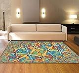 XMMGCDT Teppich Wohnzimmer Textilmatte des Abstrakten Teppichschlafzimmers Bunte Für Küchenboden Mattendecke des Wohnzimmerteppichs 3Dzuhause Dekoration,120 * 200Cm