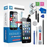 MMOBIEL LCD Display Touch Screen Digitizer Ersatz für iPhone 5 (Schwarz) Professionelles Reparatur Set mit einfacher Anleitung