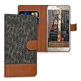 kwmobile Wallet Case Canvas Hülle für > Samsung Galaxy J5