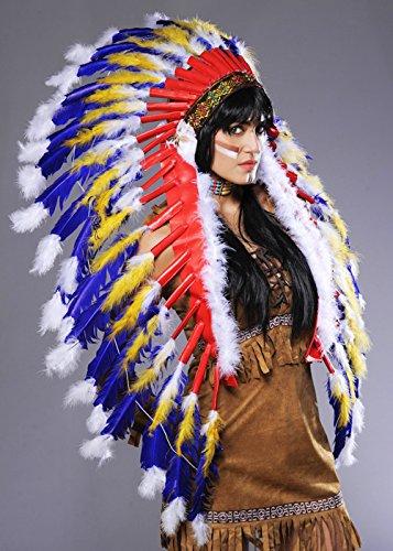 Indian Chief Federschmuck blau
