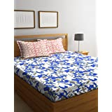 Bombay Dyeing Cotton Blue Flat Bedsheet(Standard)
