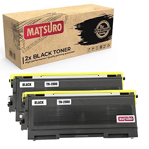 Matsuro Original | Kompatibel Tonerkartusche Ersatz für Brother TN-2000 (2 SCHWARZ) -