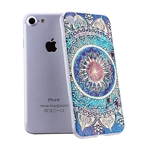 HB-Int 3 in 1 Custodia per Apple iPhone 7 (4.7 pollici) TPU Silicone Cassa Soft Silicone Case Bumper Morbida Cover Ultra Sottile Leggero Custodia Flessibile Liscio Caso Anti Graffio Anti Scossa Anti S totem