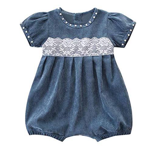 LEXUPE Bekleidung Neugeborene Kinder Baby Mädchen Outfit Kleidung Cord Spitze Kurzarm Strampler Overall