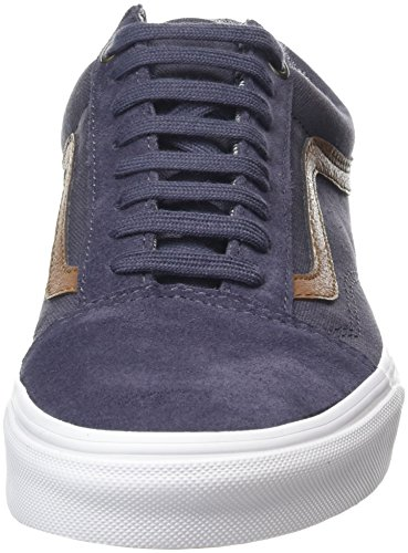 Vans U Old Skool, Baskets Basses Mixte Adulte Gris (C&L Periscope/True White)