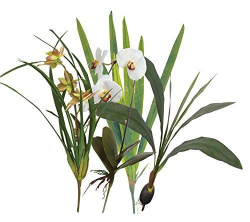 """Namiba Terra 6904 Terrarienpflanzen Set """"BALI"""", 4 künstlicher Regenwaldpflanzen im Set"""