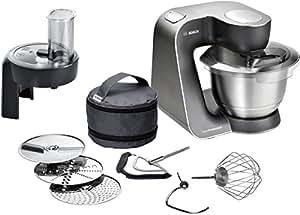 Bosch MUM57810 Küchenmaschine Styline HomeProfessional MUM5 (900 Watt, Edelstahl-Rührschüssel)