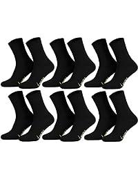 Tobeni 6 pares de calcetines de bambu ANTIBACTERIAL sin caucho para hombres y mujeres