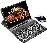 Tablet Offerte 10.1 Pollici 4G Dual SIM con Wifi Memoria RAM da 3GB+64GB Tablet Android 8.1 Quad-Core con 8MP Fotocamera DUODUOGO Tablet Offerta Del Giorno con Netflix/OTG/Tastiera(Nero)