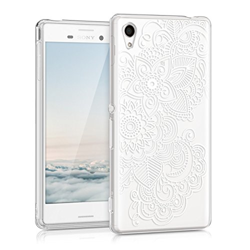 kwmobile Sony Xperia M4 Aqua Hülle - Handyhülle für Sony Xperia M4 Aqua - Handy Case in Weiß Transparent