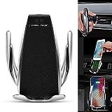 Supporto per caricabatteria da Auto Wireless, Supporto da Auto per Caricabatterie 10W Veloce per iPhone XR XS Max X 8 8 Plus, Samsung, all. Sensore di Movimento Automatico a infrarossi
