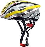 Skyrocket Yellow Cycle Mountain Bike Helmet 54-60cm Adjustable with Visor