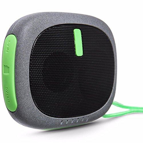zenbre D3deporte Bluetooth altavoces, batería integrada de 2600mAh batería, 10horas de tiempo de reproducción, micrófono integrado, puerto de carga USB, Portátil Tamaño de bolsillo exterior altavoces