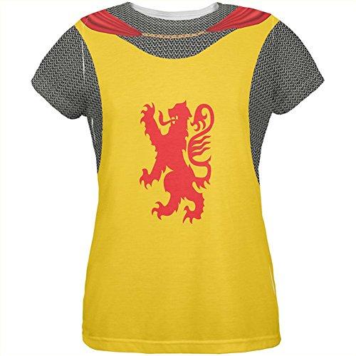 Löwe Halloween Ritter Rüstung Kostüm Aller Damen-T-Shirt Multi SM (Löwe Frauen Halloween Kostüm)