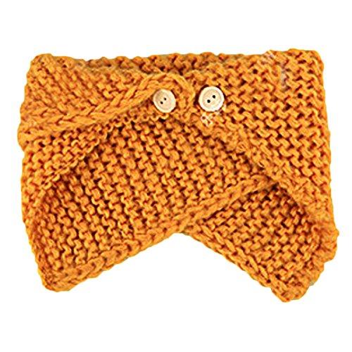 TININNA Automne et Hiver Enfant Chauds écharpe de Laine à Tricoter écharpe Mode Deux Couches Cou écharpes Jaune