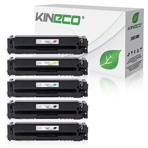 Preisvergleich Produktbild 5 Kineco Toner kompatibel zu HP CF540A-CF543A für Color Laserjet Pro M-254nw M-254dw MFP M-280nw M-281fdn M-281fdw - 203A
