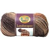 Lion Brand Yarn 100 g 100 Percent Acrylic Landscapes Yarn Ball, Sand Dune