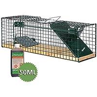 Moorland Safe 6041 - Trampa para animales vivos - 55x15x19 cm - Para ratas o ratones - Con 1 entrada - Con Feromona