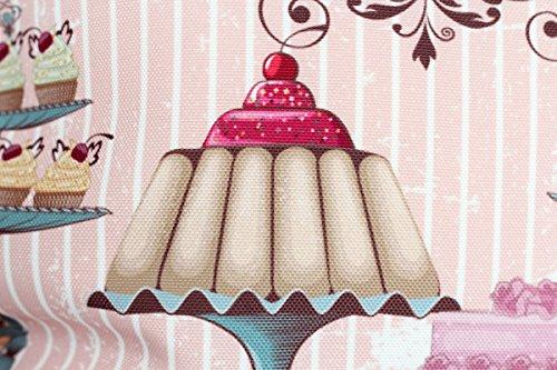 Kissenbezug Kaya 40x40cm Cupcake Muffin Torte Kissenhülle Vintage Torten Cupcakes Muffins Nostalgie Kissen Dekokissen - 2