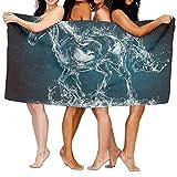 vbndgfhjd Luxury Bath Towels, Horse Water Art Work White, Super Soft Ultra Absorbent...
