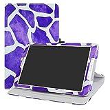 LFDZ Galaxy Tab E 9.6 Rotante Custodia, Slim Girevole Smart 360 Gradi di Rotazione Case Cover Custodia Protettiva per Samsung Galaxy Tab E 9.6' SM-T560 SM-T561 Tablet,Zebra Viola