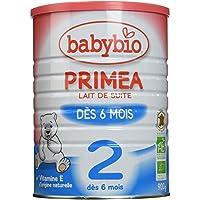 Babybio Primea 2 Lait Nourrisson Bio 6 + Mois 900 g - Lot de 3