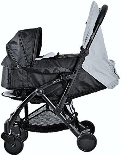 Pack Duo Nacelle Trinity 2 Kinderwagen, ultraleicht, 5,5kg, ultrakompakt, Transporttasche, Flugzeug, leicht, 2 kg, zusammenklappbar, 0/9 kg (Grau)