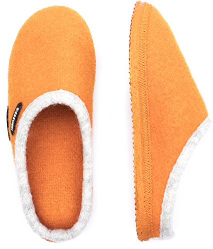Giesswein Unisex-Erwachsene Dannheim Pantoffeln Orange (Mandarine)