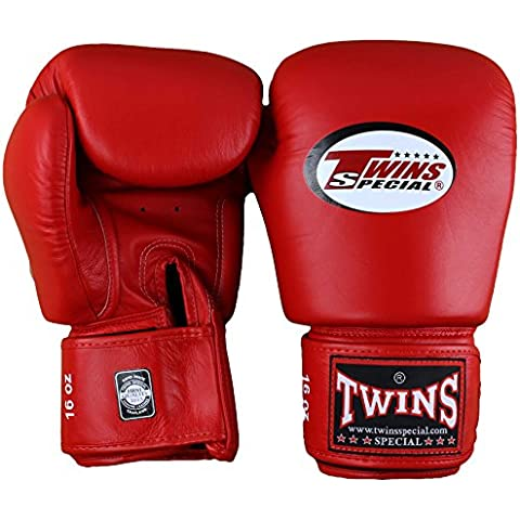 Twins Special - Guantes de muay thai, color azul Talla:10 Oz.
