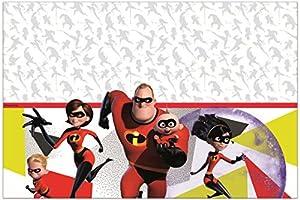 Procos mantel plástico 120x 180cm Incredibles 2, Rojo, 5pr89917