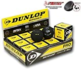 DUNLOP Pro Squash Balls single ball boxes, 1 dozen balls