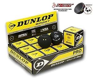 DUNLOP Revelation Balles Pro de Squash (Double Points) - 1Douzaine, Jaune