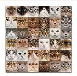 XJWHYYHAO Collage Bild Wandkunst Leinwanddruck Kunstwerk Katzen Und Hunde Malerei Für Wohnzimmer Schlafzimmer Kaffee Dekoration Ungerahmt 40X40Cm