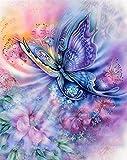 5D Diamant Kits Malen Nach Zahlen Neu DIY Diamant Malerei Kit Für Erwachsene Kreuzstich Vollständiges Toolkit Stickerei Kunst Handwerk Bild Lieferungen Hauptwand Dekor (Butterfly)