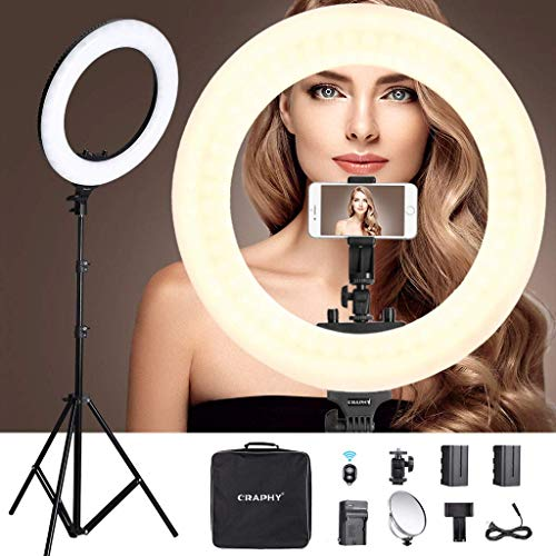 CRAPHY Ring Light Bluetooth Anello LED Flash 18