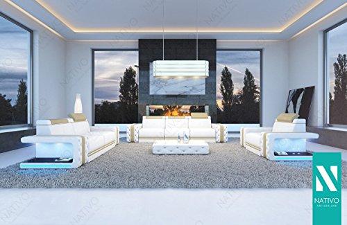 DESIGNER SOFA IMPERIAL KUNSTLEDER 3+2+1 MIT LED BELEUCHTUNG NATIVO© Polstergarnitur Couch Wohnlandschaft