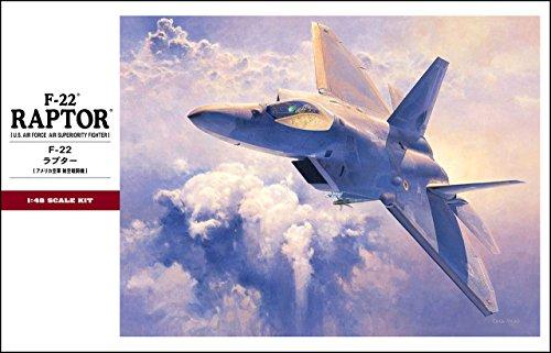 Imagen principal de Hasegawa PT45 - Maqueta de avión F-22 Raptor