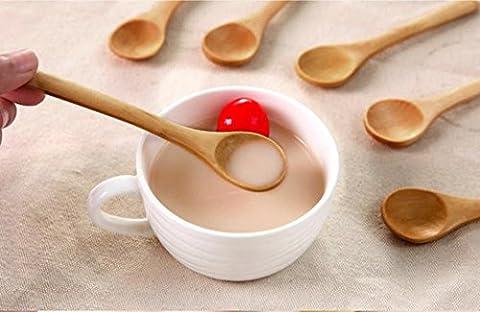 Igemy Lot de 6en bambou ustensile de cuisine en bois outils de cuisson Spatule mélanger NEUF (Beige)