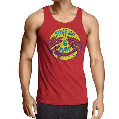 canottiera da uomo senza maniche accessori surf abbigliamento surf i regali Rosso Multicolore