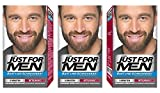3 x Just For Men Moustache and Beard Facial Hair Gel Colour M35 (Medium Brown)
