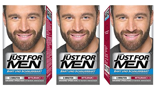 Just For Men - M35 - Bart Und Schurrbart - Mittelbraun - 3er Pack